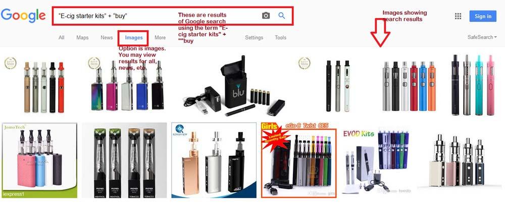 Google-search-e-cigarette