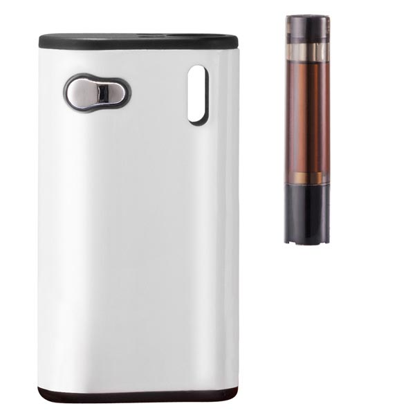 ecig box mod detail with cartridge