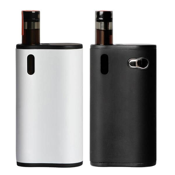 ecig box mod white and black front
